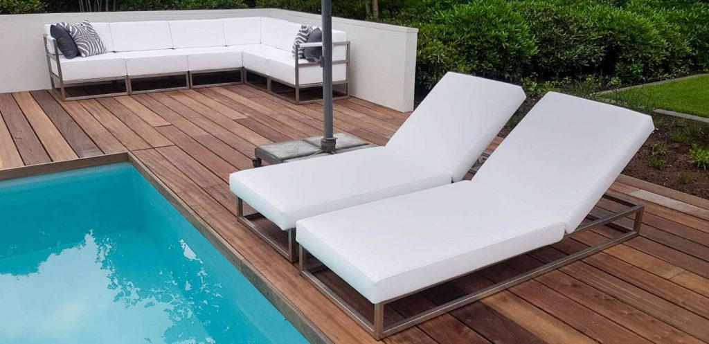 small outdoor chaise lounge